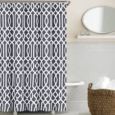 Shower Curtains For Guys Black And White Polka Dot Shower Curtain Interior Home Design Ideas