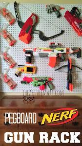 Nerf Pegboard Gun Rack