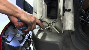 installation of a blue ox tail light wiring kit on a 1999 jeep