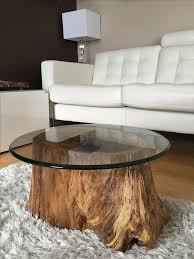 how to make a glass table top new stump end table with regard to household designs 1pop info