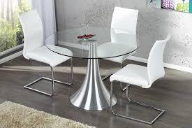 design glastisch design esstisch town glastisch rund aluminium tulpenfuss dunord
