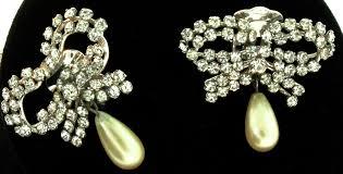 swag earrings vintage 1958 henkel grosse christian swag gold chain