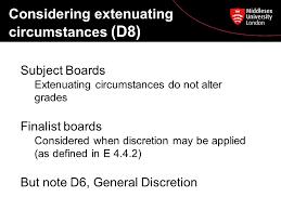 Extenuating Circumstances External Examiner Workshop The Assessment Process Colin Davis
