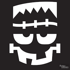 use these stencil patterns to create cute or creepy halloween
