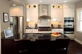 kitchen island with sink and stove