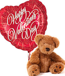 teddy valentines day s day teddy and balloon at from you flowers