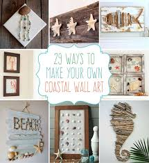 themed bathroom wall decor crafts coastal diy wall