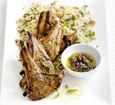 lamb chops with fruity couscous u0026 mint recipe bbc good food