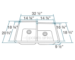 Cabinet Sizes Kitchen by Double Offset Bowl Undermount Astragranite Kitchen Sink Fits 33