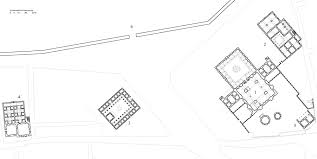 architectural drawings floor plan of complex showing 1 mosque
