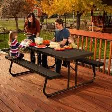 lifetime 6 folding outdoor picnic table brown 60110 lifetime picnic tables 10 amazon com lifetime 60105 wood grain