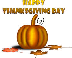happy thanksgiving day with pumpkin clip at clker vector