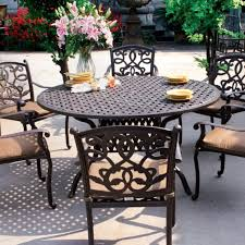 Patio Chairs With Cushions Amazon Com Darlee Santa Monica Cast Aluminum Outdoor Patio