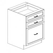 3 Drawer Base Cabinet Clinton Shaker Dark Chocolate Espresso Cabinet