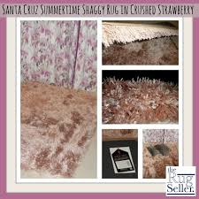 The Rug Seller Review Of Santa Cruz Summertime Shaggy Rug In Crushed Strawberry