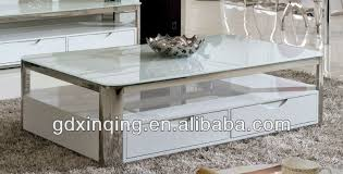 c356 modern design white tempered glass top coffee table buy