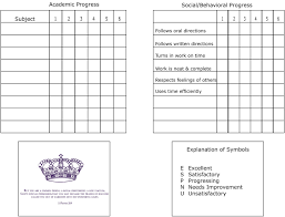 blank report card template homeschool report card template best and professional templates