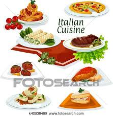 cuisine italienne clipart cuisine italienne dîner à dessert dessin animé icône
