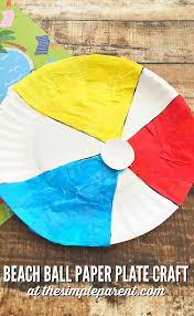make a beach ball paper plate craft this summer