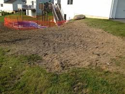 How To Regrade A Backyard Yard Regrading After In Ground Pool Lawnsite