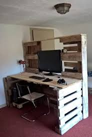 palette bureau fabriquer un bureau avec des palettes 20 idées
