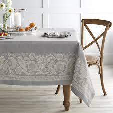 vintage floral jacquard tablecloth williams sonoma