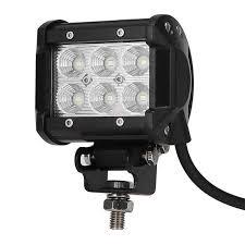 2 inch led spot light 2x 4 inch led flood lights 18w 1800 lumens 10 30v color 6500k