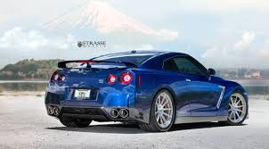 Nissan Gtr Blue - blue pearl nissan gt r with brushed aluminum strasse wheels i