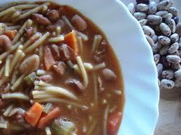 cuisiner les haricots rouges secs soupe de petits spaghetti et haricots secs borlotti la conque d or