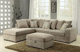 Chenille Living Room Furniture by Coaster Olson Contemporary Reversible Sectional With Chaise