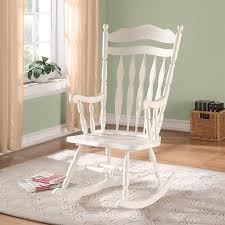 shop monarch specialties antique white rocking chair at lowes com