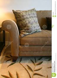 brown sofa and pillow royalty free stock photography image 1900397