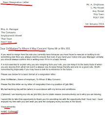 basic resignation letter resignation letter examples