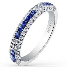 kirk kara wedding band kirk kara 14k white gold blue sapphire diamond wedding ring
