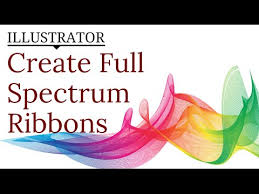 create a rainbow ribbon effect in illustrator use lines u0026 blends