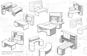 contract furniture work by zoe heidorn sketch for forniture