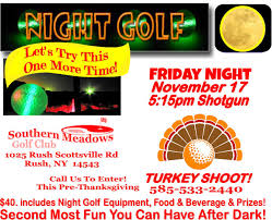 glow golf let s try this again thanksgiving turkey