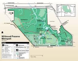 Toledo Map Wildwood Preserve Metropark Maplets