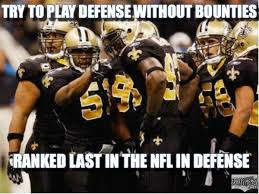 Saints Falcons Memes - no bounties no defense meme