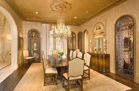 Stunning Mediterranean Dining Room Mansion In Houston By Sims - Mansion dining room