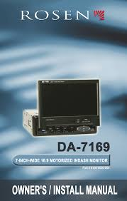 rosen entertainment systems da 7169 car video system user manual