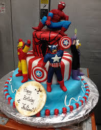 customized cake avenger and spider man cake for birthday party