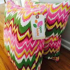 lumbar pillow in katie ridder u201cseaweed u201d in magenta u2013 open house