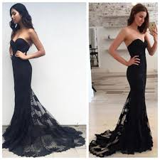 long black mermaid sweetheart charming party vintage prom