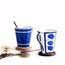bicchieri in ceramica bicchieri mug 350 ml fan classico elegante bianco bone