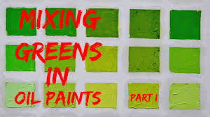 oil color mixing demo green color part 1 youtube
