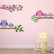 owls and birds branch wall stickers by mirrorin owls and birds branch wall stickers