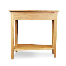 rustic wedge end table furniture comstone oak storage end table rustic finish enchanting