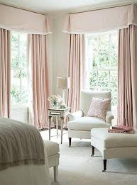 Pale Pink Curtains Decor Sophisticated And Feminine Pale Pink Bedroom With Floor To Ceiling