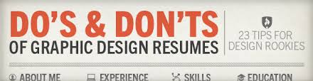 graphic design resume do s don ts of graphic design resumes tips for rookies